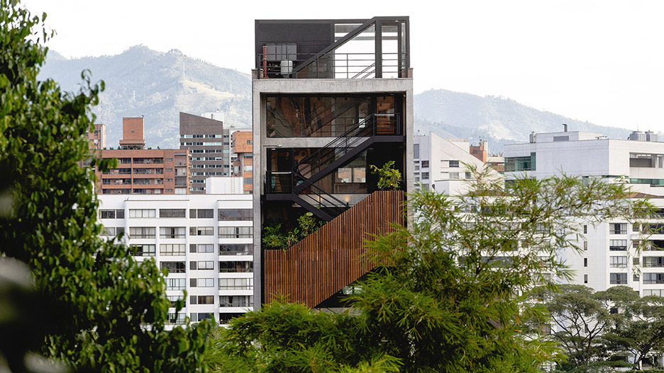 Balconies cover facade of The Somos hotel in Medellín by A5 Arquitectura